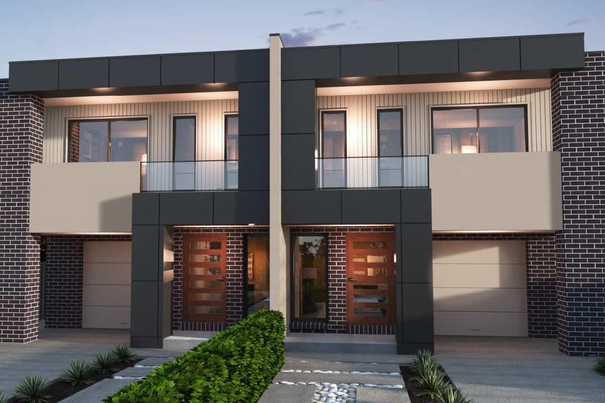 Modern Duplex Facade